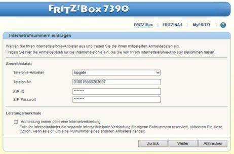 Konfiguration: Ansage vor Melden an FRITZ!Box mit Talkmaster